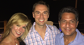 Carlos and Cecy with Brendon Burchard