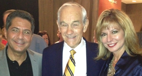 Carlos and Cecy with Ron Paul